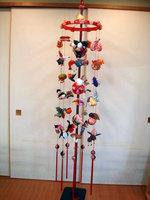 吊し雛7連(飾り台・回転吊し輪付)